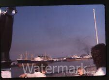 1962 ektachrome 35mm Photo slide car Ships at docks  New Orleans LA