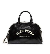 Fred Perry Bags-Clásico Bolso De Agarre-Negro-crudo-L1203 Bolsa De Viaje Gimnasio - - D57 -