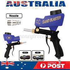 Portable Gravity Sandblasting Tool Gun 90PSI Pneumatic Sand Blasting Machine set