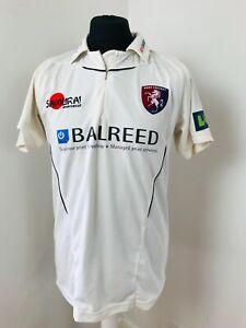 Kent County Cricket Club Shirt Matchworn Cricket Jersey Kemp 18 Kent CC Size M