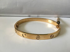 New Cartier Love Bracelet Yellow Gold Size 17 CM = 6.70 Inches