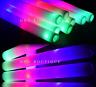 12 PCS Light-Up Foam Sticks LED Rally Rave Cheer Tube Soft Glow Baton Wands