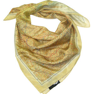 Silk Escape Map scarf - Official IWM wwii air force cloth maps for sale evasion