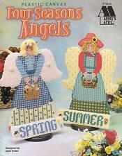 NEW FOUR SEASONS ANGELS DOLLS PLASTIC CANVAS PATTERN BOOK
