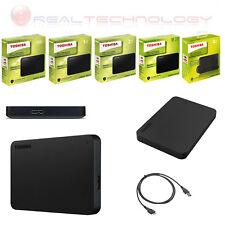 HARD DISK ESTERNO 2,5 USB 3.0 500GB-1TB-2TB-3TB-4TB TOSHIBA CANVIOB MOD2018 NERO