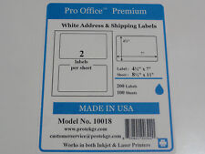 Pro Office Premium Self-Adhesive Round Corner Shipping Labels 10sheets 20 labels
