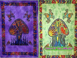 2 piece Mushroom Tapestry Bohomen Indian Wall Hanging Wholesale (77cmX102cm)PG-3