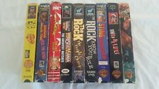 VHS Movie LOT of 9 WWF WWE WCW WRESTLING Videos Movies THE ROCK Hulk Hogan VHS A
