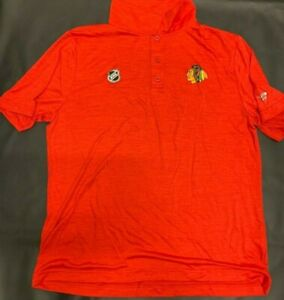 "Chicago Blackhawks - ** Authentic Pro ""Fanatics"" NHL Golf  Shirt (RED)*_**NEW!!!"