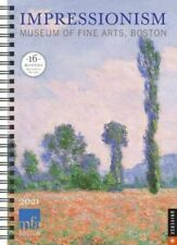 2020-2021 Diary Impressionism 16-Mth Weekly Engagement Desk Planner AM38358