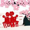 3D Pop Up Greeting Cards Sakura Birthday Valentines Anniversary Easter Postcards