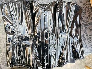 "Corset Story Black PVC Overbust Corset Size 42"""