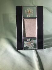 Carr Frames Stained Glass Leaded Pressed Flower Picture Frame Overall 8�x5�