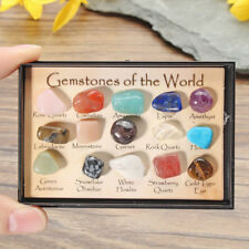 12pcs/Set Chakra Stones Natural Stone Reiki Healing Crystal Gemstones NEW