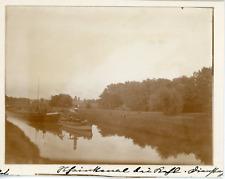 Allemagne, Deutschland, Rheinkanal, vue sur le canal du Rhin, péniches Vintage a
