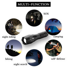 15000LM Tactical Police T6 18650 LED Flashlight Zoom Focus Torch Lamp Light USA