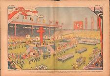 Parc des Princes Congrès Jubilaire Jociste JOC  Paris France 1937 ILLUSTRATION