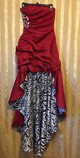JUMP Juniors Size 2 Prom Wedding Dress Red Zebra Print