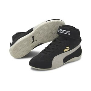 Puma Speedcat Mid Sparco 30660901 Mens Black Suede Lace Up Sneakers Motorsport