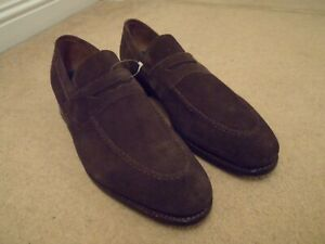 NEW GEORGE WEBB by BARKER ENGLAND BROWN SUEDE LEATHER LOAFERS SHOES UK 11 EU 45