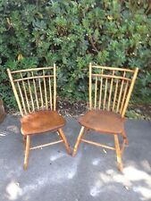 windor chairs , colonial era, matching pair, original condition, very nice