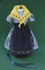 "American Girl 18"" KIRSTEN Retired ON THE TRAIL CHECK DRESS w SHAWL APRON  REPRO"