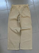 Solo Semore County Work Baggy Pants Brown Denim Jeans Vintage Made In USA 34
