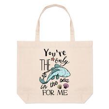 You're The Only pesce in the Sea for Me grande borsa con manico da spiaggia