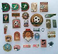 Football Soccer Clubs Sport Ball 26 pcs Soviet Vintage Pin Badge USSR ☭