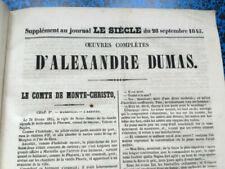 Livres anciens et de collection xixème Alexandre Dumas, en français