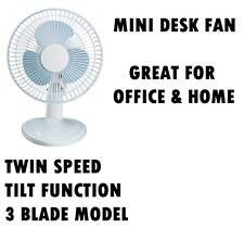 """NEW 6"""" INCH SMALL DESKTOP PORTABLE FAN TABLE DESK AIR COOLING 2 SPEEDFAN"""