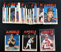 1986 Topps Tiffany Team Lot of 30 California Angels Carew Sutton Boone - Glossy