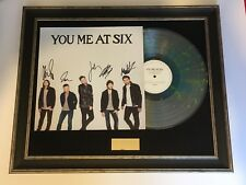 SIGNED/AUTOGRAPHED YOU ME AT SIX - CAVALIER YOUTH LP FRAMED PRESENTATION