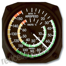 Trintec Aviation Airspeed Indicator Wall Fahrenhellt/Celsius Thermometer  6.5