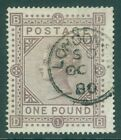 SG 129 £1 brown-lilac. Very fine used with a London CDS, Oct 1st 1880. Good...
