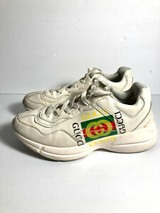 Gucci Rhyton Logo Sneakers Size 42 ( US 8.5 - 9.5)