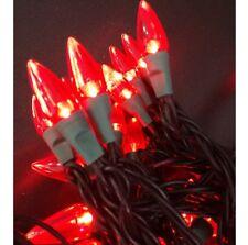 LED Lichterkette Partylichter 50 Lampen rot Tropfenform Weihnachtsbeleuchtung