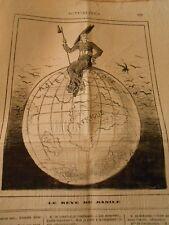 Caricature 1879 - Le Rêve de Basile Perché sur la Terre