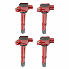 x4 RED HIGH SPARK RACING IGNITION COIL COP FOR 06-11 HONDA CIVIC SI K20 FG2 FA5