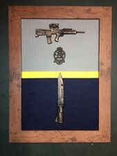 Queen's Regiment Commemorative Frame with SA80