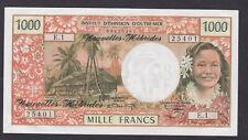 France/New Hebrides Brilliant uncirculated 1969-72  1000 francs banknote