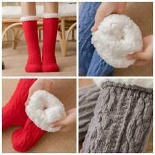 Long Thicken Fleece Lined Socks Ladies Soft Warm Cozy Fuzzy Slipper Bed Socks UK
