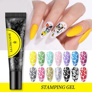 BORN PRETTY Nagel Stempel Gel Soak off Nagel Gellack Nail Art Stamping Gel