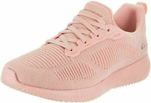 Woman Skechers Bobs Squad Photo Frame Sneaker 31362 Color Light Pink Brand New
