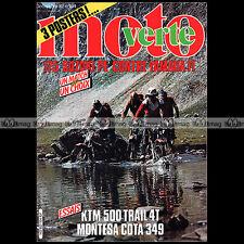 MOTO VERTE N°104 MONTESA COTA 349 KTM 500 SCRAMBLER YAMAHA 175 IT SUZUKI PE 1982