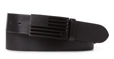 $395 Ralph Lauren Purple Label Race Black Metal USA Flag RL Leather Buckle Belt