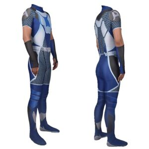 The Boys Cosplay Costume A-Train The Seven Halloween Jumpsuit Bodysuit