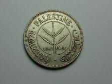 1942 PALESTINE SILVER 50 MILS XF+ SUPER NICE! MUST SEE!!