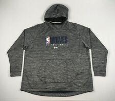 NEW Nike Minnesota Timberwolves - Men's Gray Dri-Fit Sweatshirt (4XLT)