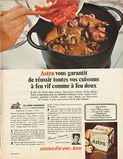 Publicité 1965  ASTRA  margarine  cuisinez d'or Francoise Bernard